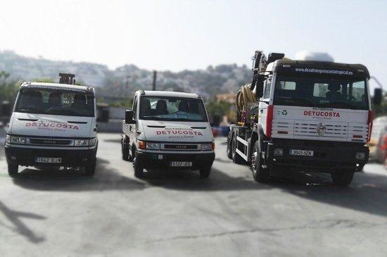 nuestra flota de camiones de desatascos para Almuñécar, Motril y Nerja
